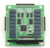 16 Channel Optoisolated Input & 16 Relay Output PC/104 Module